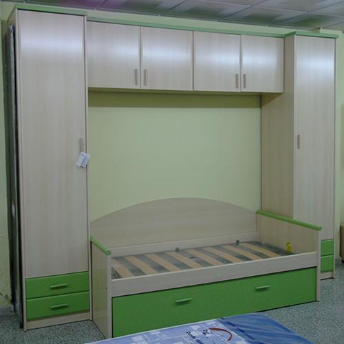 Dormitorio matrimonio madera de pino for Puente nido juvenil