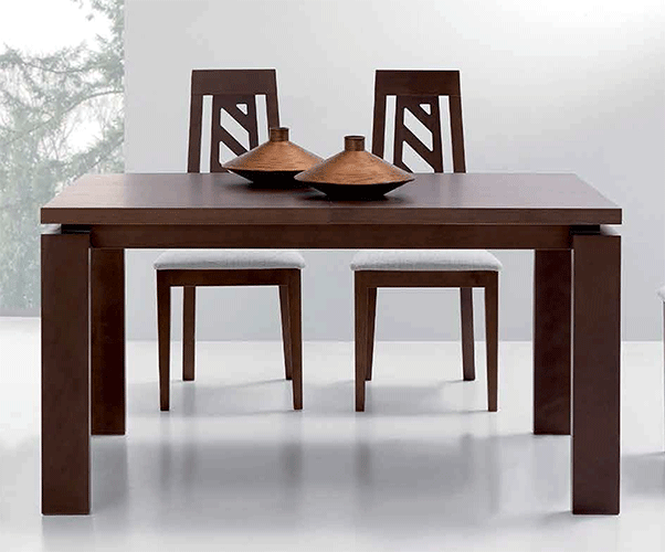 Mesa comedor rectangular extensible alicia for Mesa comedor rectangular
