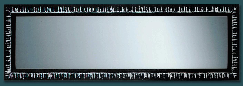 Espejo marco negro ra ces plata for Espejo marco negro