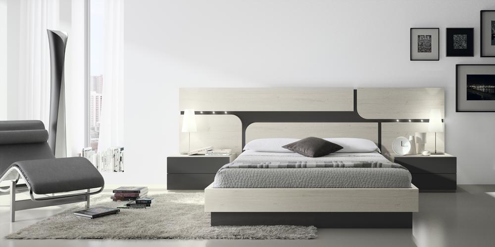 Dormitorio matrimonio cabezal cuadros curvos lacado 111 - Sillas para dormitorio moderno ...
