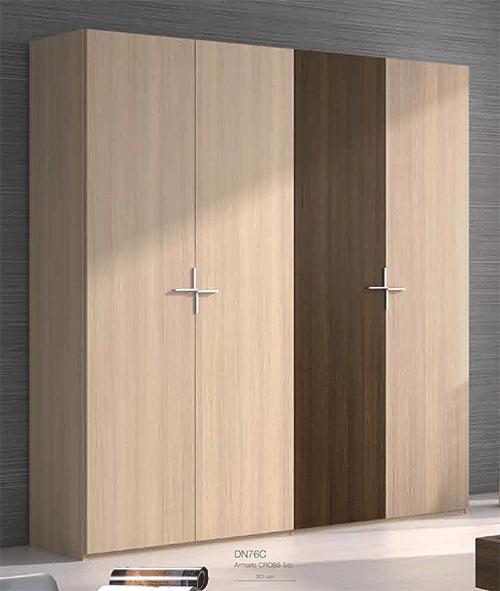 Armario 4 puertas para dormitorio modelo 73c for Puertas dormitorios modelos