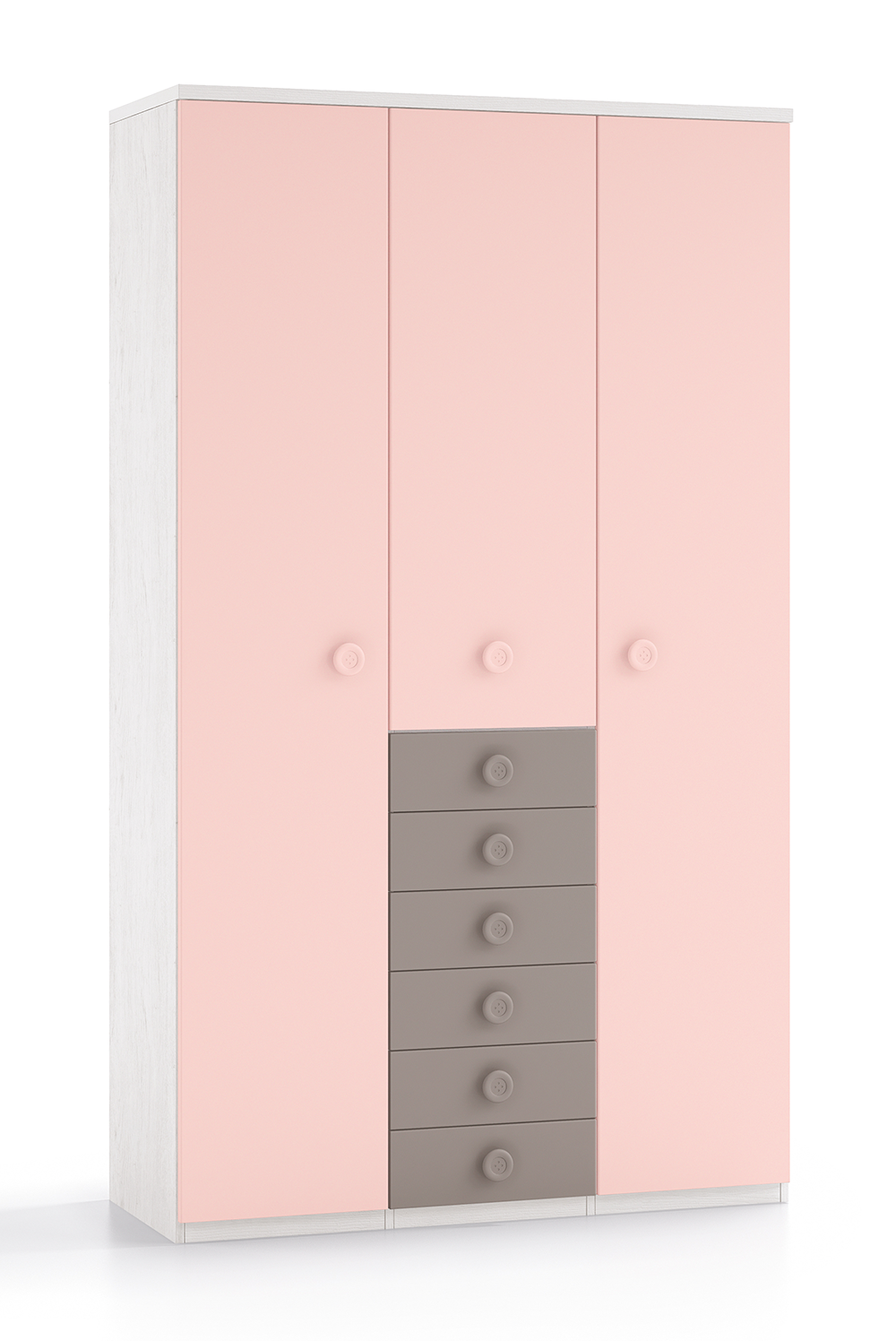 Armario 3 puertas y 6 cajones xinfonier - Puertas y armarios ...