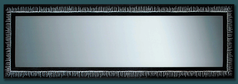 Espejo marco negro ra ces plata - Espejo marco negro ...