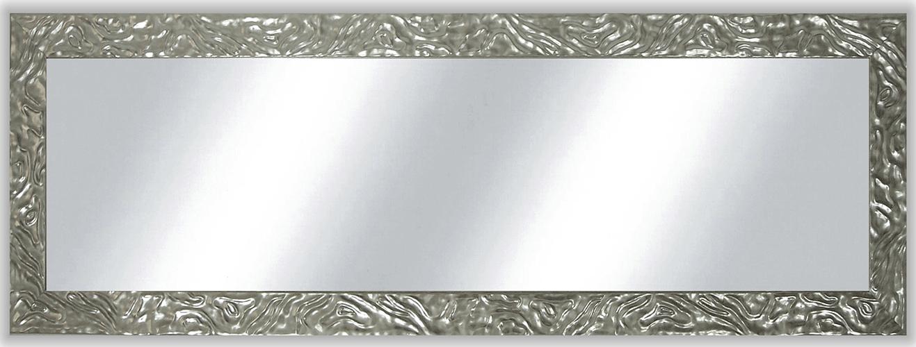 Espejo con marco plata brillo relieve 9 cm