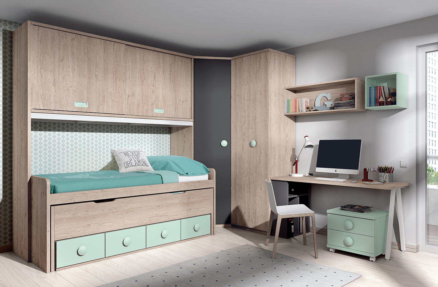 Mueble puente dormitorio great finest tips para with for Mueble puente
