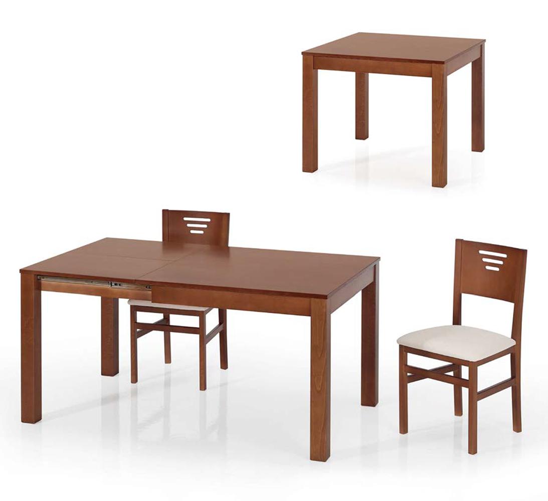 Mesa de comedor rectangular extensible modelo 111